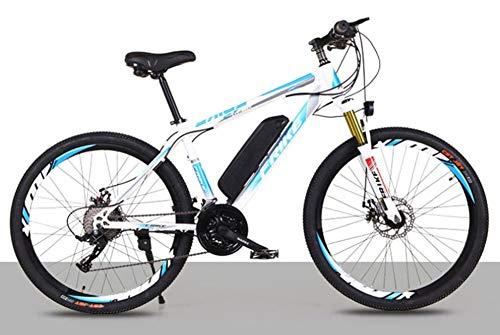 HSART Ebike all Terrain da 26' Antiurto, Mountain Bike Elettrica Bicicletta Fuoristrada da 250W per Adulti, con Batteria agli Ioni Litio Rimovibile 36V 10Ah Bici Elettrica per Uomini e Donne,Natural