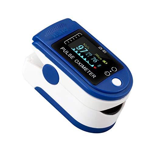 Oxímetro, Pulsioxímetro con pinza para la yema del dedo Pantalla LCD TFT Oxímetro con la yema del dedo Mini monitor de SpO2 Saturación Oxímetro portátil para viajes familiares con cordón