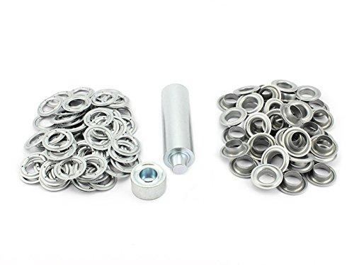 Preisvergleich Produktbild Einschlagstempel Einschlagwerkzeug XXL Ösenwerkzeug 20 mm 50 Ösen verzinkt