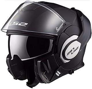 LS2 Casco de moto VALIANT MAT Negro, Negro, L