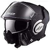 LS2, casco de moto modular VALIANT negro mate, XL