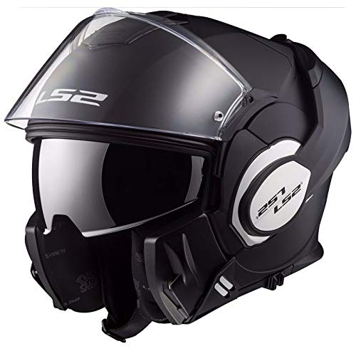 LS2 - Casco de moto Valiant, mate, color negro, talla L