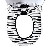 Gifts Treat Coprisedile per WC Accessori per Toilette Stile Animale Carino Morbido Peluche scaldabagno (Zebra)