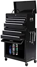 High Capacity Tool Chest Rolling Tool Box with Wheels and Drawers 8-Drawer Detachable Organizer Big Tool Storage, Mobile Lockable Toolbox for Workshop Garage Mechanics (Black)