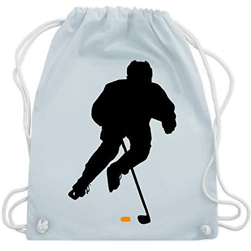 Shirtracer Eishockey - Eishockey Spieler - Unisize - Pastell Blau - eishockey kinder trikot - WM110 - Turnbeutel und Stoffbeutel aus Baumwolle