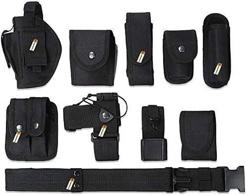Lsgoodcare Multifunction Police Security Guard Military Tactical Duty Utility Waist Belt Black product image