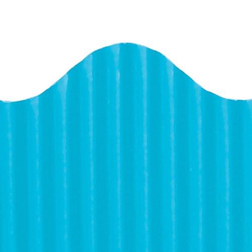 Top Notch Teacher Products Corrugated Border, Bright Blue, 2 1/4