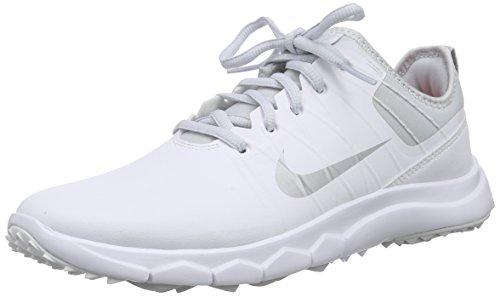 Nike Damen FI Impact 2 Golfschuhe, Weiß (White/Metallic Silver/Pure Platinum/Bright Crimson 100), 40 EU