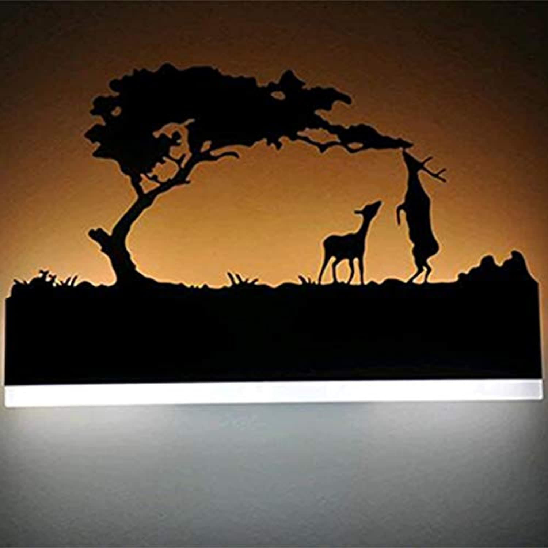 BOHENG Schlafzimmerwandlampe, geführte Wandlampe, Tier führte Wandhngelampe, Schwarze kreative Wandlampe des Acryls, Badezimmerwandlampe LED,B