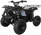 X-PRO ATV 4 wheelers for Sale 125cc ATV Quad Four Wheelers Youth ATV 4 wheelers with Remote Control,Big 16'' Tires(Black)