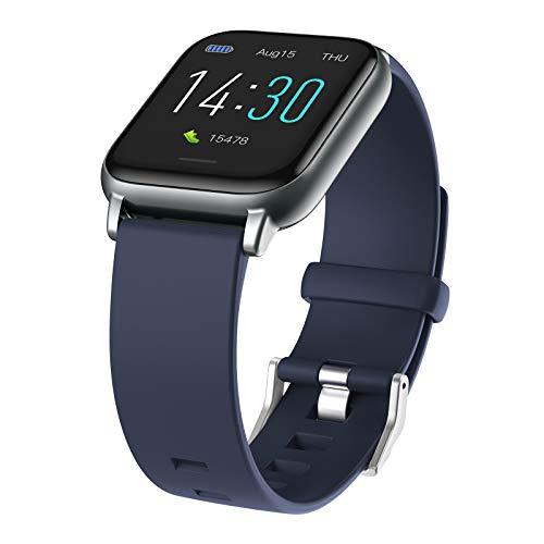 B Blesiya 1.3in Mujeres Bluetooth Reloj Pulsera Inteligente recordatorio de Mensaje podómetro IP68 Ofrece Claro y de imágenes Tanto en Interiores como al Aire - Azul