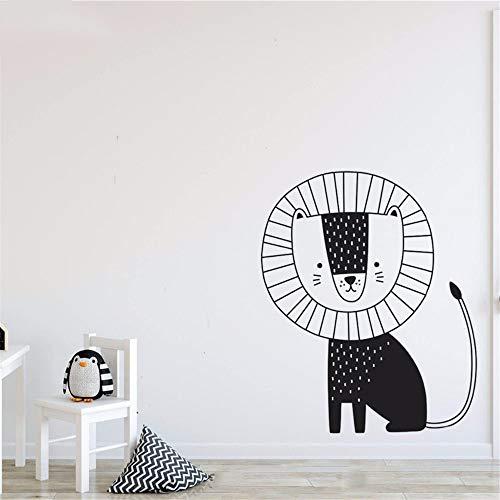 Verwijderbare Vinyl muurschildering Citaten Kunst Dier Leuke Leeuw Kat Leeuw Sticker Thuis Kinderen Slaapkamer Decoratie Mural 12x15 inch