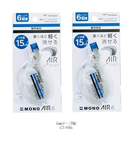 トンボ鉛筆 修正テープ モノエアーヨコ引きタイプ6 6mm CT-YA6 2個組み