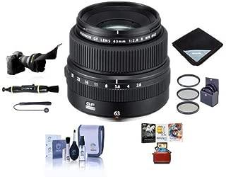 Fujifilm FUJINON GF 63mm F/2.8 R WR Lens for GFX Medium Format System - Bundle with 62mm Filter Kit, Flex Lens Shade, Lens Wrap, Lens Pen Cleaner, Lens Cap Leash, Cleaning Kit, Mac Software Package