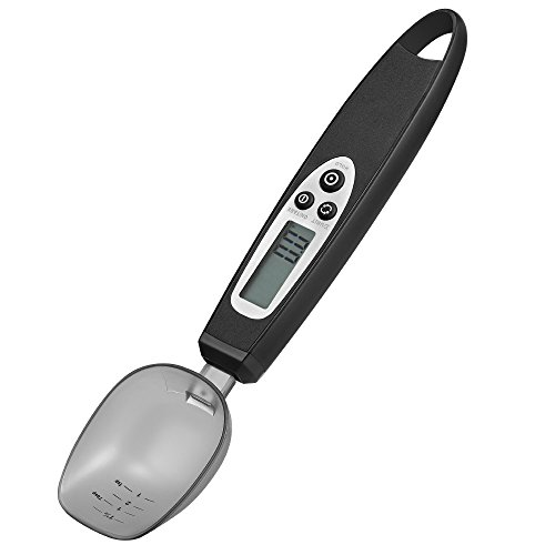 Spoon Scale,JERRYBOX LCD Kitchen Digital Scale Electronic Measuring Spoon from 0.5g to 300g,Black (New Version Black)
