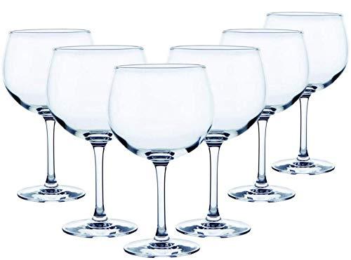 Hogar y Mas Copa Combinados 70 Cl, Vidrio Gin Tonic, 12 Uds. Vajilla/Menaje Elegante, Basicos Set de 12.