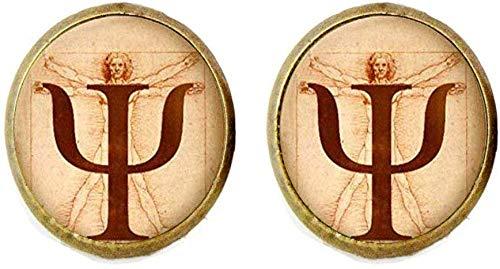 Boucles d'oreilles psychologiques - Cadeau pour psychologue - Image anatomique - Bijoux artistiques