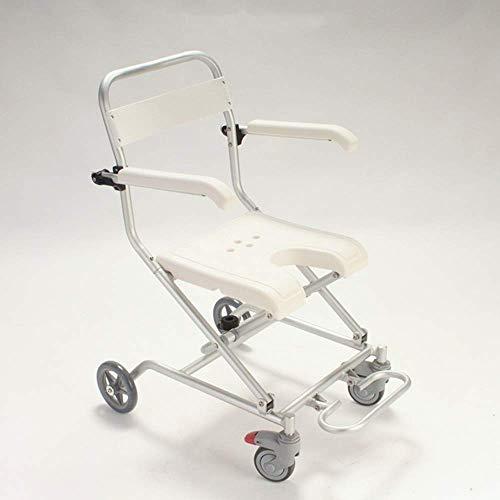 Equipo diario Silla de baño de aluminio Silla de ruedas plegable Silla...