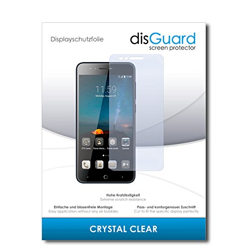 disGuard® Bildschirmschutzfolie [Crystal Clear] kompatibel mit ZTE Blade A612 [2 Stück] Kristallklar, Transparent, Unsichtbar, Extrem Kratzfest, Anti-Fingerabdruck - Panzerglas Folie, Schutzfolie