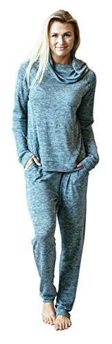 Hello Mello Carefree Threads Womens Loungewear Pants With Pockets and Adjustable Elastic Waistband, Matching Drawstring Bag- Mint X-Large 16