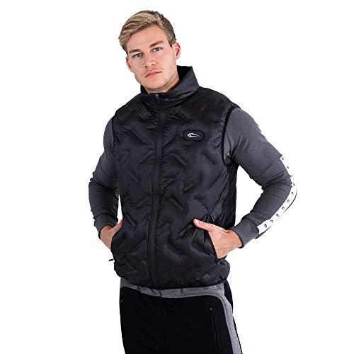 SMILODOX Herren Weste Ride | Weste für Sport Training Fitness & Freizeit | Mit Zip und Taschen, Größe:M, Farbe:Schwarz
