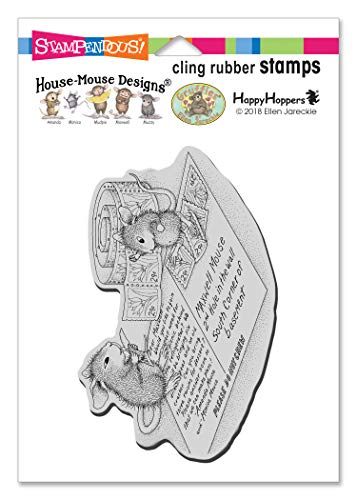 Stampendous House Mouse Cling Stamp-Postcard Mice, Grey