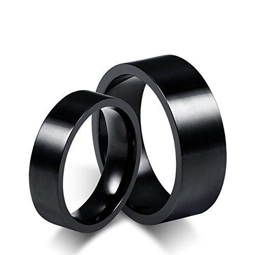 Beydodo 2 Damen-Ringe Herren-Ringe Freundschaftsringe Hochglanzpoliert Rund Ehering Wolframcarbid Verlobungsringe Paar Damen Gr. 49 (15.6) & Herren Gr. 54 (17.2)