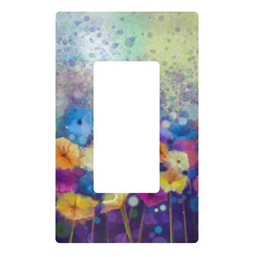 Placa decorativa de pared con interruptor de luz, primavera, verano, flores, interruptor de salida, cubierta de enchufe eléctrico para dormitorio, cocina, decoración del hogar