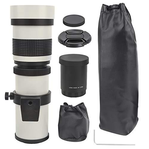 Bigking Teleobjektiv, 420‑800mm F8.3‑16 Manueller Fokussierungszoom Teleobjektivteleskop für Canon EF-S Mount Camera(Weiß)
