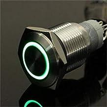 ExcLent 12 V 19 mm Momentary Push Button przełącznik wodoszczelny - zielony