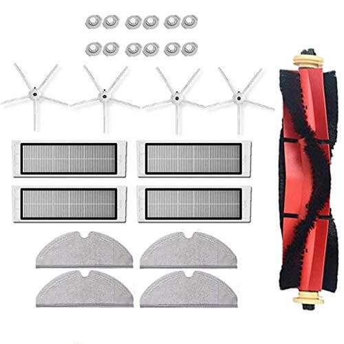 Huante 25 Piezas para S5 MAX S6 Accesorios Piezas de Aspiradora Filtro Lavable Cepillo de Rodillo Cepillo Lateral Fregona