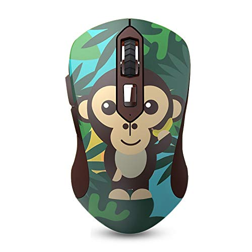 2.4GHz Wireless Animal Pattern USB Optical Ergonomic Silent Gaming Mouse Gamer 1600DPI + 6 Buttons for PC Laptop Computer