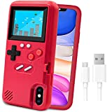 Game Console Case for iPhone,LucBuy Retro Protective Cover Self-Powered Case with 36 Small Game,Full Color Display,Shockproof Video Game Case for iPhoneX/Xs/MAX/Xr/6/7/8Plus/11/Pro/Max