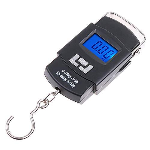 GPISEN Digital Balanza Báscula de Equipaje,50 kg/110 lbs Balanza Ergonómica,Dinamómetro para...