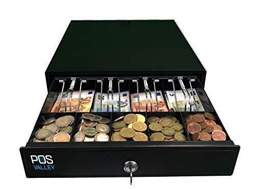 Cassetto Cassa Piccolo Porta Banconote e Monete Apertura Automatica POS Stampante e Registratore di Cassa. 33 x 38 cm - POS VALLEY