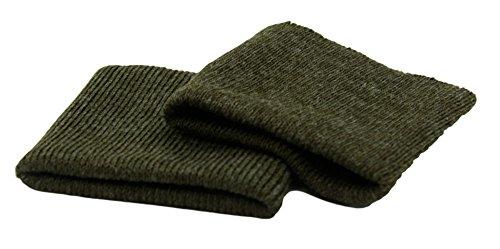 Haberdashery Online 2 puños elásticos para ropa color Verde militar. Ideales para rematar todas tus prendas. REF. PUNO56-ES