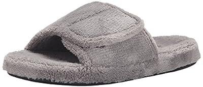 Acorn Men's Spa Slide Slipper, Grey, Large / 10.5-11.5 Regular US