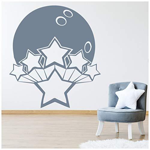 azutura Bowlingkugel Wandtattoo Sterne Wand Sticker Sport Wohnkultur verfügbar in 5 Größen und 25 Farben Groß Türkis