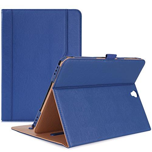 ProCase Funda Samsung Galaxy Tab S3 9.7, Carcasa Folio de Cuero PU con Tapa Magnética para SM-T820 T825 T827 -Azul