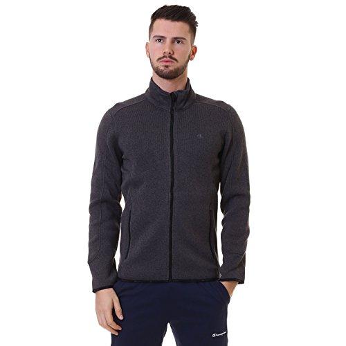 Champion Herren Fleece Jacke Full Zip Top, Charcoal Marl Melange, XXL