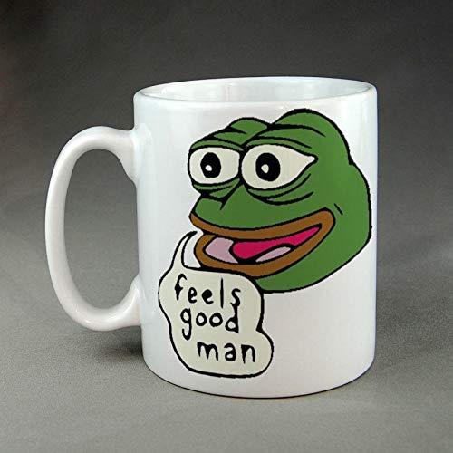 Feels Good Man Ultra Rare Pepe The Sad Frog Funny Parody Mug Meme Dank Mug Cup