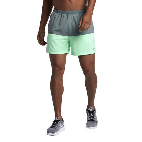 Nike - 5distance - Short - Homme - Multicolore (Hasta/Grünes Glühen) - Taille: L
