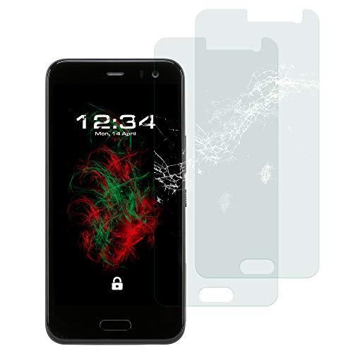 Baluum 2X Panzerglas für HTC U11 Life Klare Bildschirmschutzfolie Panzerglasfolie 9H Echt Glas-Folie Clear Tempered Glass Screen Protector Glas Durchsichtige Schutzfolie (Glasfolie-Klar 2X)