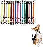 Lot de 15 colliers d'identification réutilisables en nylon pour chiots, chiots, chats, animaux de compagnie, longueur réglable de 17,5 cm à 26 cm, 15 couleurs