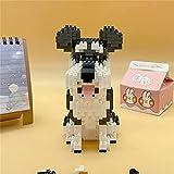 Ladrillos Baidefeng Schnauzer de la Historieta del Perro de Animal de compañía Building Blocks Modelo del Rompecabezas de plástico Nano Micro Blocks Regalos de los Juguetes del niño