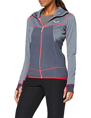 Salewa 00-0000027389_3866 Hoodies Femme, Ombre Blue Melange, FR : M (Taille Fabricant : 44/38)