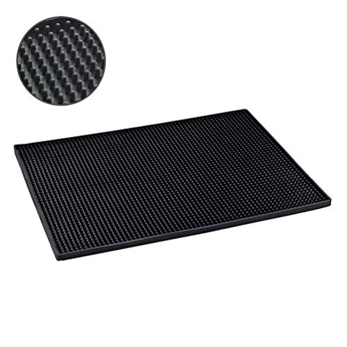 WENKO Tapis Egouttoir, Egouttoir vaisselle, Maxi, 40x30 cm, noir