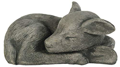 Deer Lay Down Cement Sculpture Concrete Deer Statue for Home and Garden Figure Forest Deer Statuary