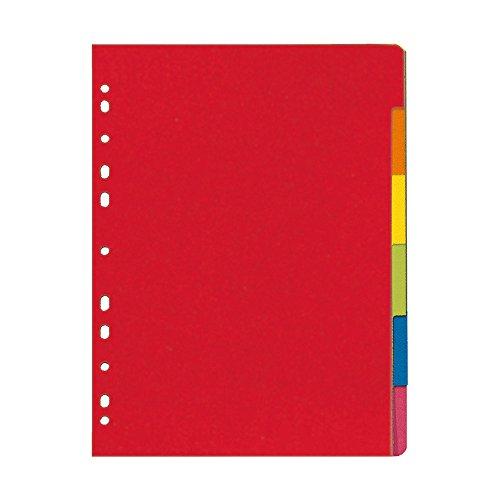 Herlitz 11078078 Register 6-teilig, A4, farbintensiver Manilakarton