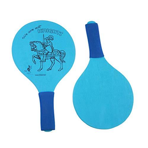 LIOOBO 1 para Beach Paddle Ball Badminton Beach Cricket Holz Schläger Paddel Outdoor Schläger Spiel ohne Ball für Kinder (Blau)